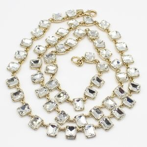 Banana Republic long rhinestone necklace